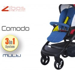 Trio COMODO Multi. Zibos 3in1 (passeggino, carrozzina, ovetto auto) full optional, fashion design (Mondrian Tribute)
