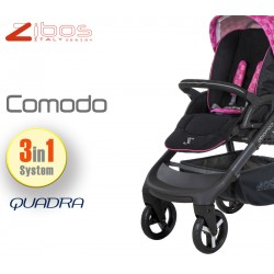 Trio COMODO Quadra Magenta. Zibos 3in1 (passeggino, carrozzina, ovetto auto) full optional, fashion design