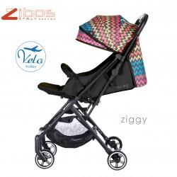 Passeggino VELO Zibos. ZIGGY BLACK Leggero reclinabile accessoriato