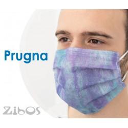 Mascherina 10pz ESTIVA LEGGERA COLORATA - Confezione da  10 pz.-PRUGNA