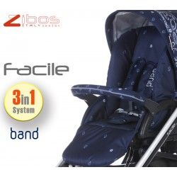 Trio FACILE 2017 Bandana Blu. Zibos 3in1 (passeggino, carrozzina, ovetto auto) full optional, fashion design