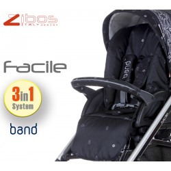 Trio FACILE Bandana Black. Zibos 3in1 (passeggino, carrozzina, ovetto auto) full optional, fashion design