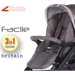 Trio FACILE 2017 Britain Sand. Zibos 3in1 (passeggino, carrozzina, ovetto auto) full optional, fashion design