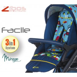 Trio FACILE Mirage. Zibos 3in1 (passeggino, carrozzina, ovetto auto) full optional, fashion design