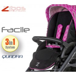 Trio FACILE Quadra Magenta. Zibos 3in1 (passeggino, carrozzina, ovetto auto) full optional, fashion design