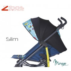 Passegggino SLIM Mirage Zibos. Leggero reclinabile con parapioggia e coprigambe. Fashion design