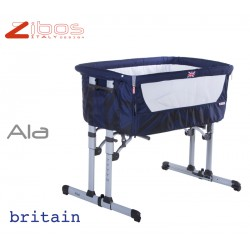 Cradle ALA Britain Blu Zibos. Alongside the bed and swings, complete with mosquito net and anti regurgitation pillow