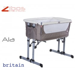 Cradle ALA Britain Sand Zibos. Alongside the bed and swings, complete with mosquito net and anti regurgitation pillow