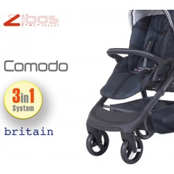 Trio COMODO Britain Black. Zibos 3in1 (passeggino, carrozzina, ovetto auto) full optional, fashion design
