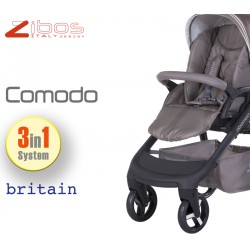 Trio COMODO Britain Sand. Zibos 3in1 (passeggino, carrozzina, ovetto auto) full optional, fashion design