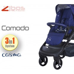 Trio COMODO Cosmo Blu. Zibos 3in1 (passeggino, carrozzina, ovetto auto) full optional, fashion design