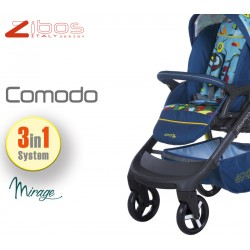 Trio COMODO Mirage. Zibos 3in1 (passeggino, carrozzina, ovetto auto) full optional, fashion design
